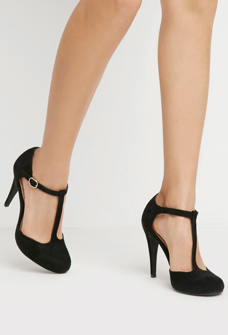 Black Pumps With Strap