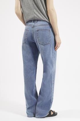 Topshop Moto Loose Fit Boyfriend Jeans in Blue | Lyst