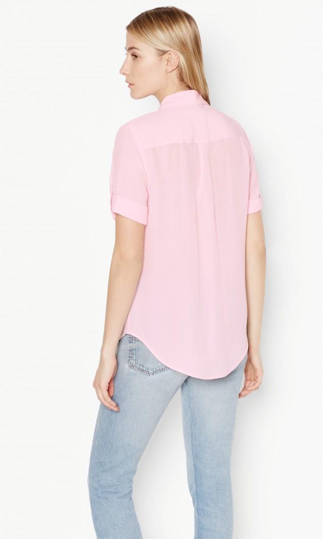 Equipment short sleeve slim signature silk shirt in pink for Silk short sleeve shirt