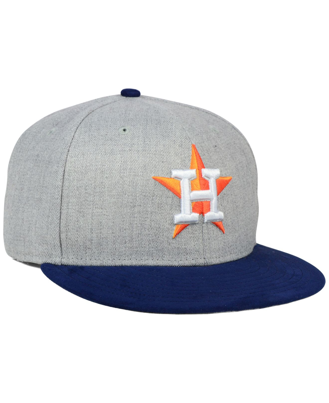 brand new f48b4 f5a1e KTZ Houston Astros Heather On Faux-suede 9fifty Snapback Cap in Gray ...