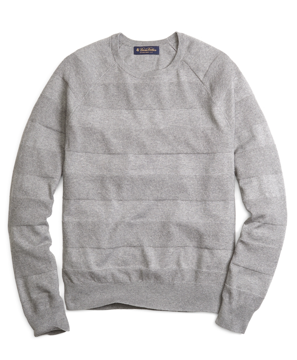 Brooks brothers Cotton Cashmere Crewneck Tonal Stripe Sweater in ...