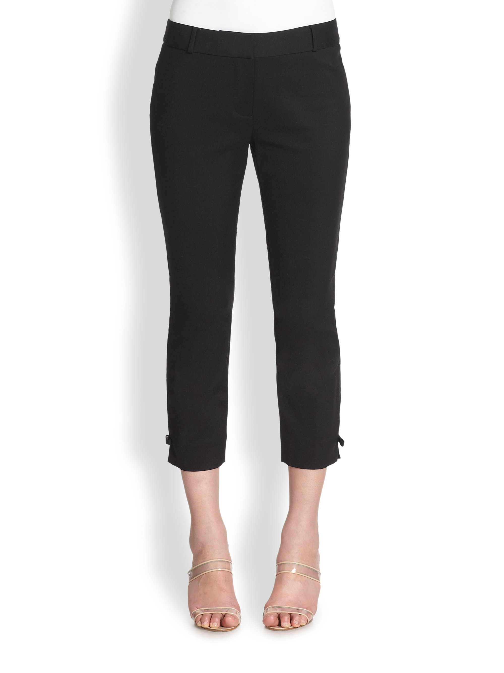 a95e0a1431 Lyst - Kate Spade Jackie Capri Pants in Black