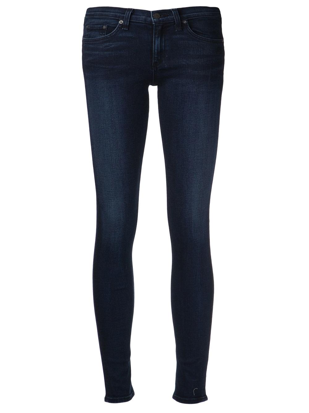 lyst rag bone coronado skinny jeans in blue. Black Bedroom Furniture Sets. Home Design Ideas