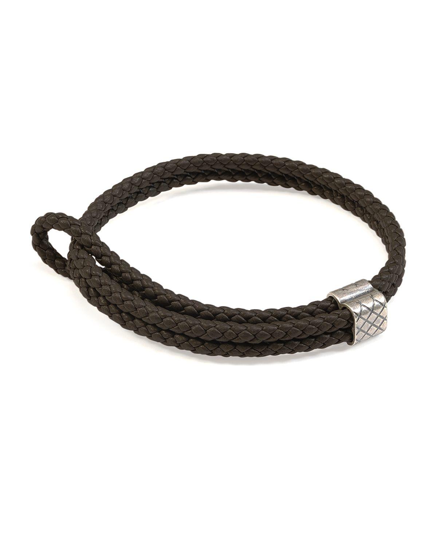 bottega veneta brown mens woven leather bracelet for