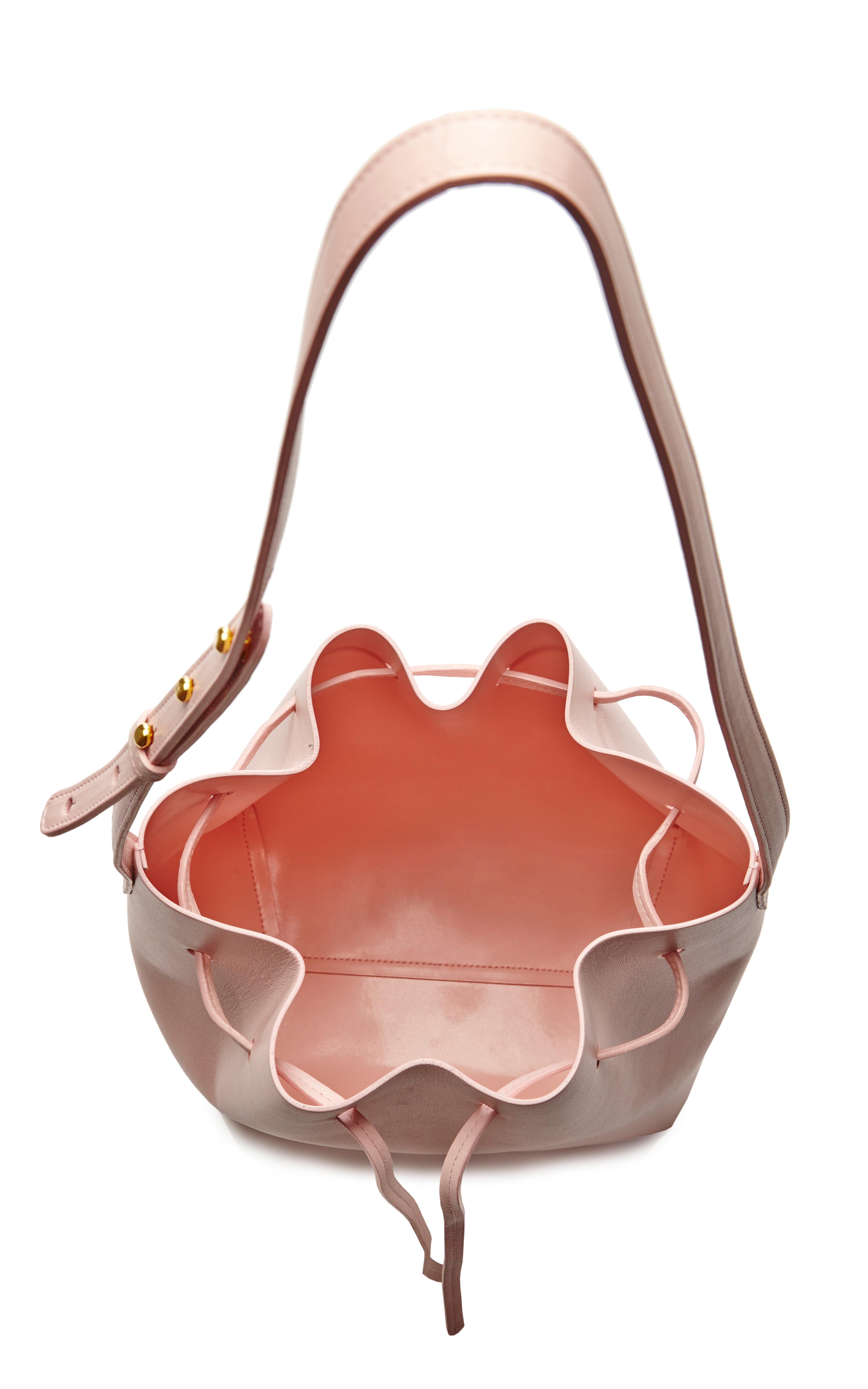 mansur gavriel large bucket bag in rosa with rosa interior. Black Bedroom Furniture Sets. Home Design Ideas