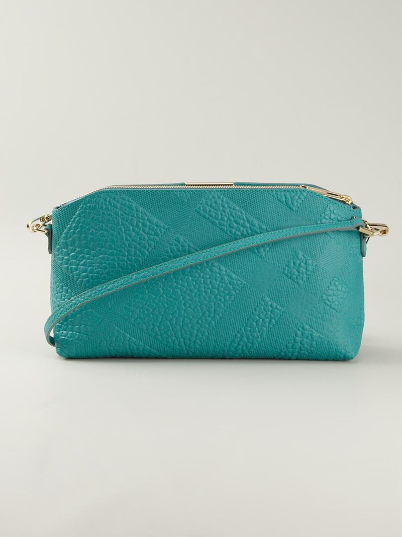 cb612713b40 Lyst - Burberry Chichester Small Leather Cross-Body Bag in Green