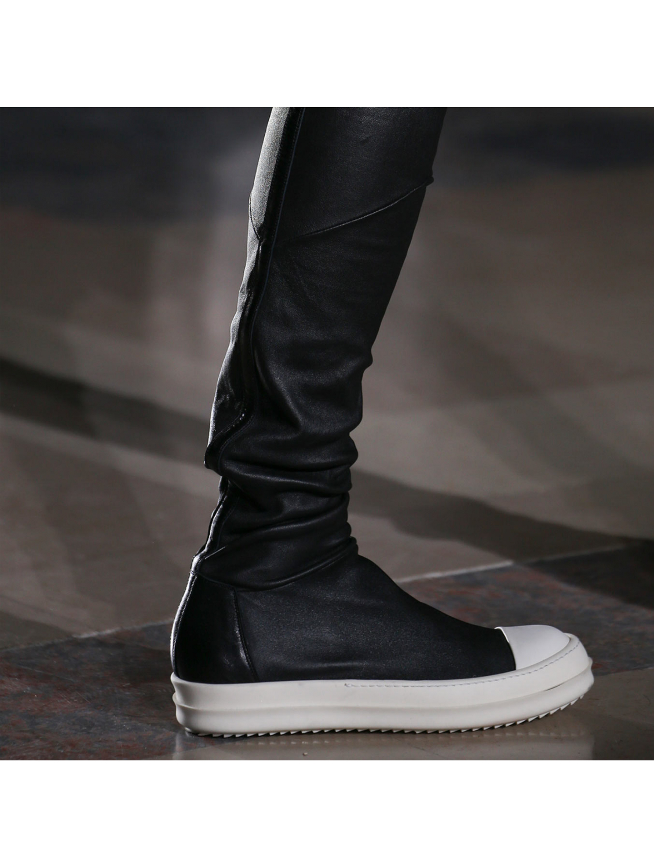 stocking sneak boots - Black Rick Owens zabIrjG