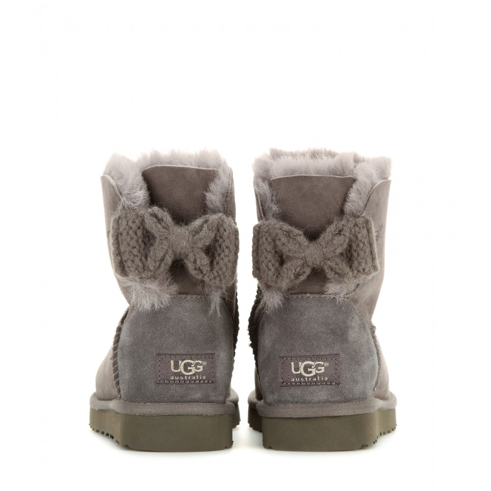 b2117000438 store grey ugg boots with bows 7ce8c 8a611