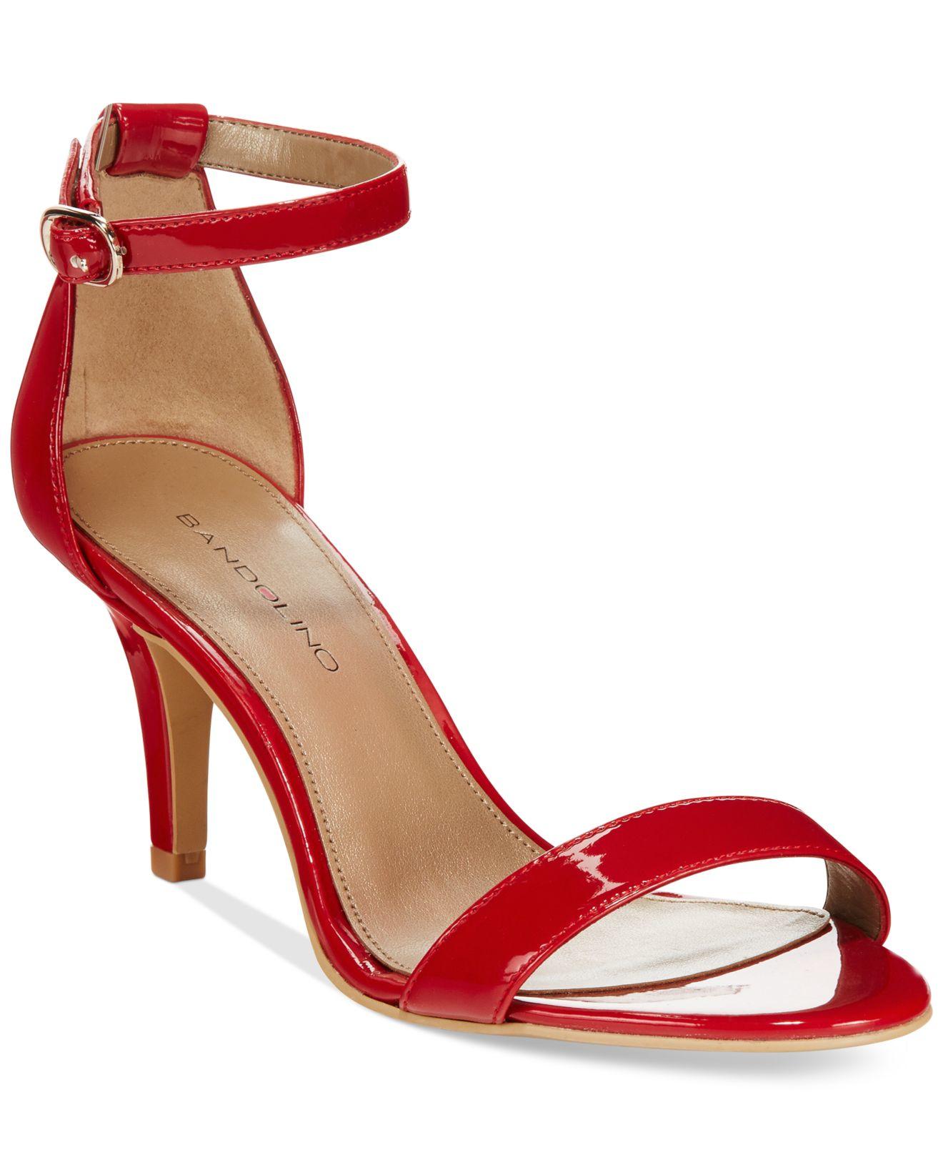 1c83e078e8b Lyst - Bandolino Madia Dress Sandals in Red