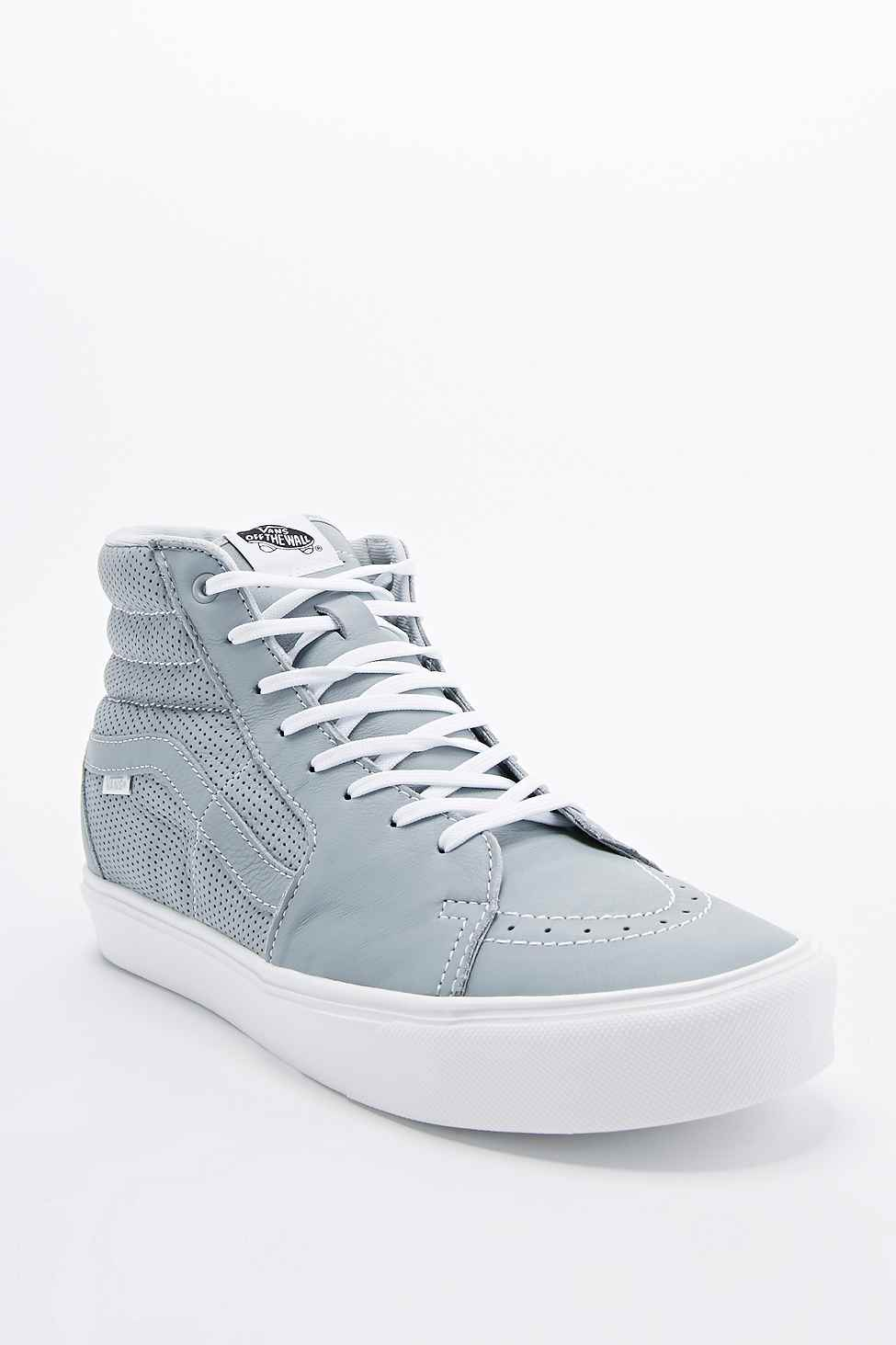 343add4615 Vans Sk8-Hi Lite Trainers In Perforated Grey in Gray for Men - Lyst