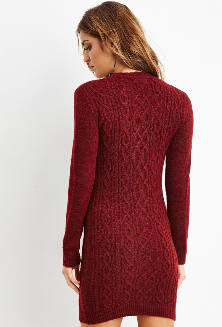 Plum Sweater Dress