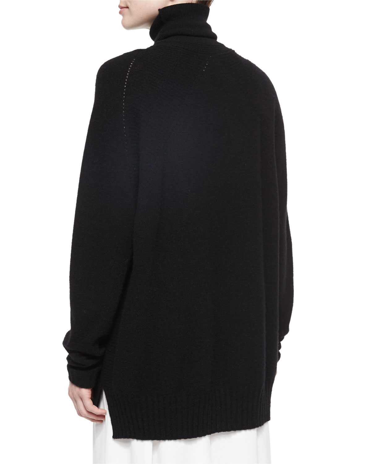 Belstaff Oversized Turtleneck Tunic Sweater in Black | Lyst