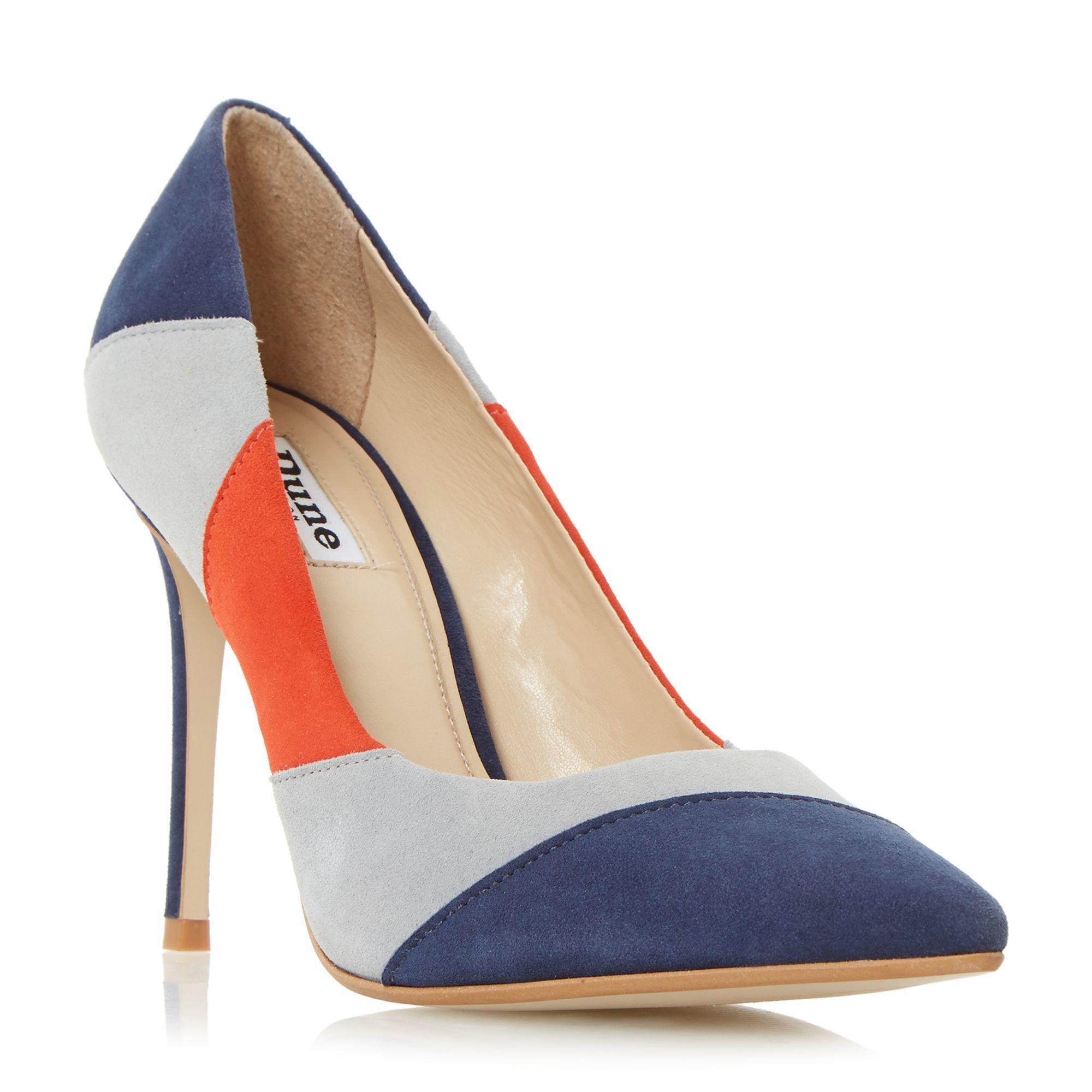 dune azzra patchwork high heel court shoes lyst