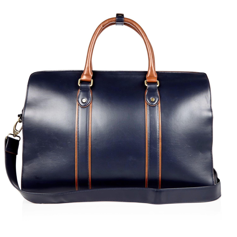 Lyst - River Island Navy Holdall Bag in Blue for Men ba78097b5