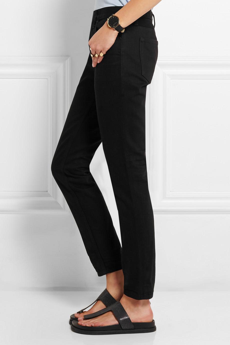 2aefcb7f5fa2 Lyst - Alexander Wang Wang 002 Straight-Leg Jeans in Black