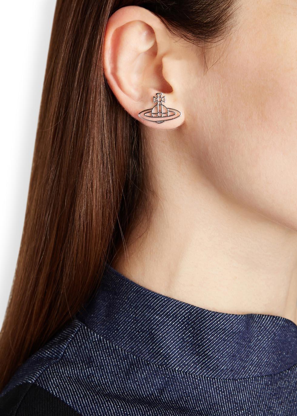 1df9f9e57 Vivienne Westwood Thin Lines Silver Tone Earrings in Metallic - Lyst