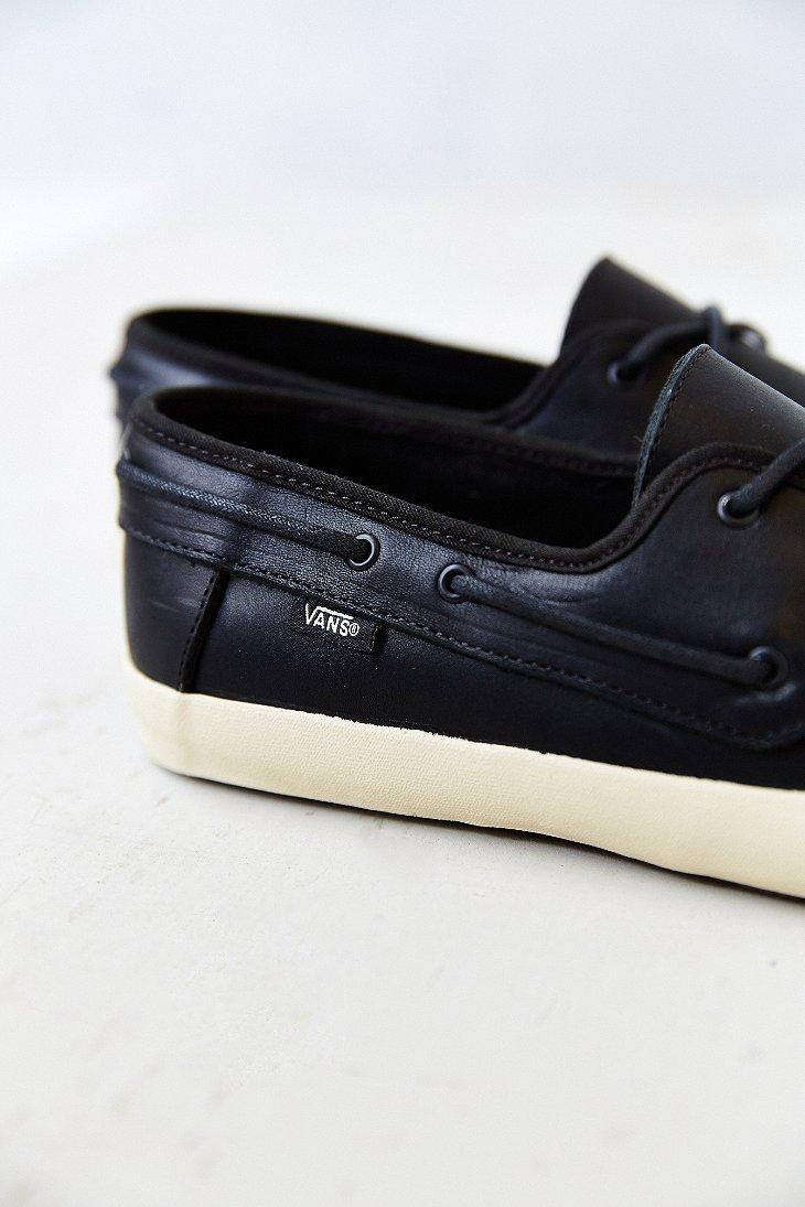 e82a3e9ba7 Lyst - Vans Surf Chauffeur Leather Men S Boat Shoe in Blue for Men