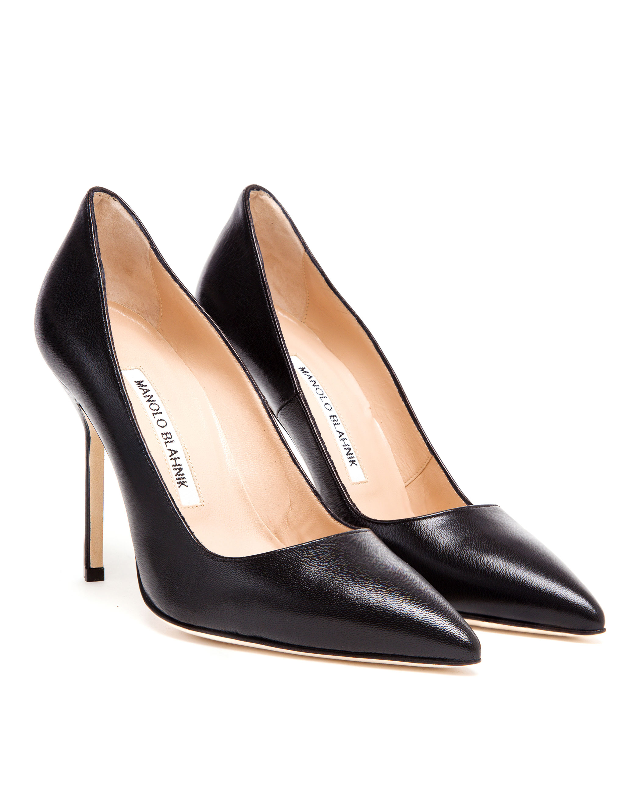 Manolo blahnik bb pick leather 105mm pumps in black lyst for Who is manolo blahnik