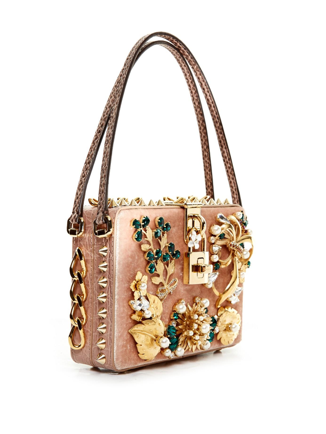 be8a19099f Lyst - Dolce   Gabbana Dolce Mama Embellished Box Bag