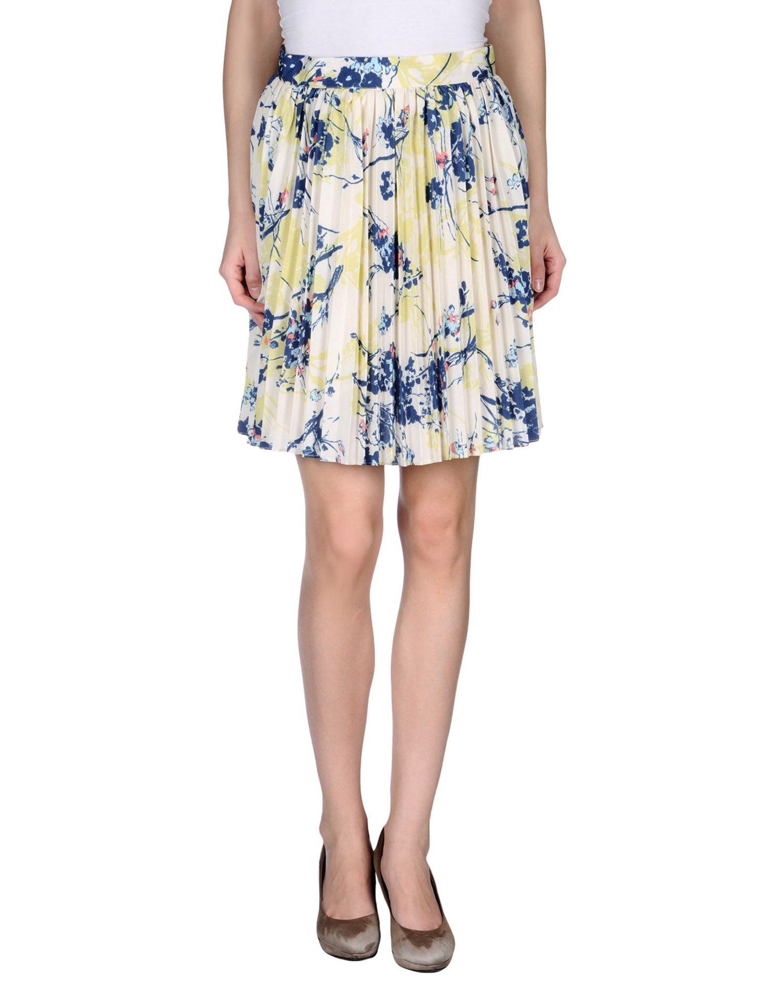 knee length skirt in white save 7 lyst