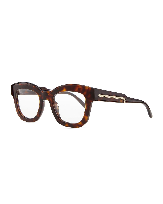 stella mccartney thick square acetate fashion glasses