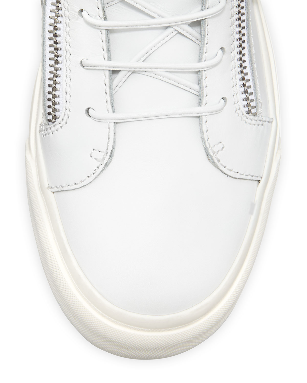 4bf42c857e0a Lyst - Giuseppe Zanotti Mens Chain   Zipper Leather High-top Sneaker ...