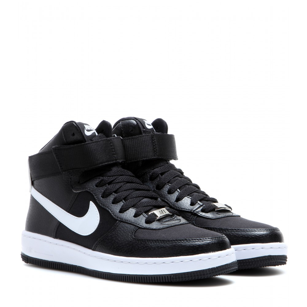 nike af 1 ultra mid sneakers in black lyst