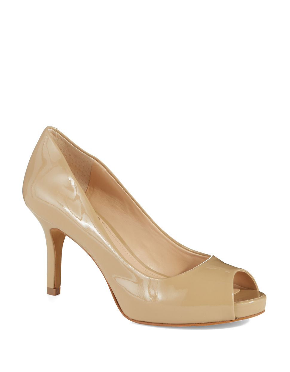 Lyst Vince Camuto Kiley Patent Leather Pumps In Natural