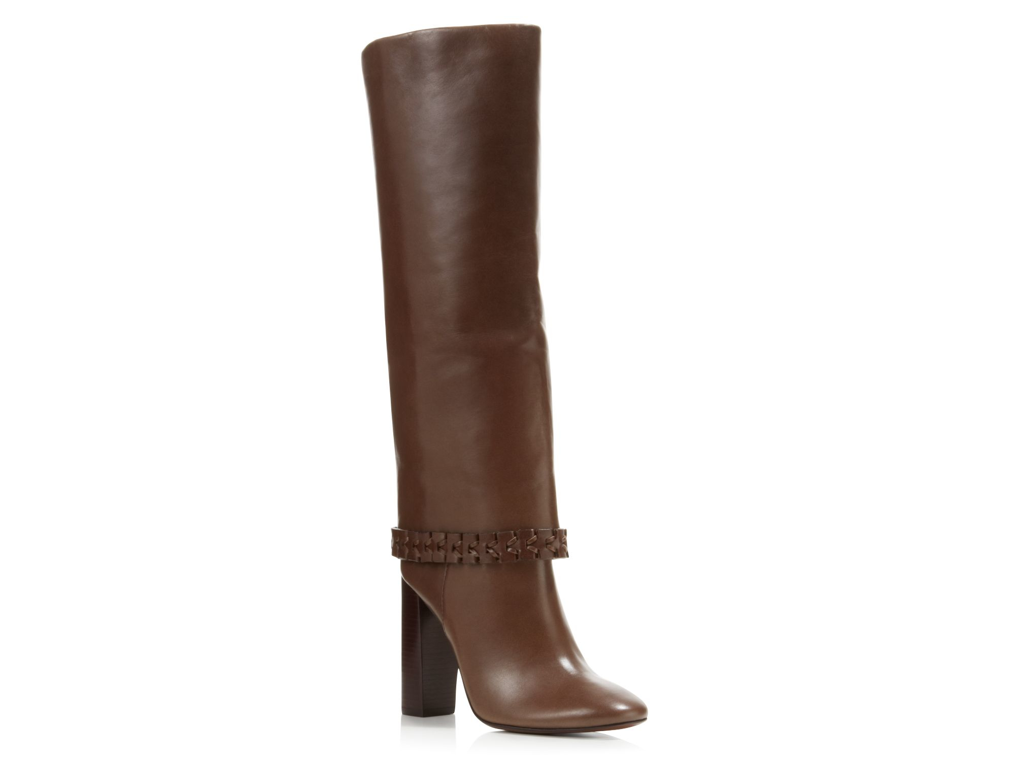 Tory burch Sarava High Heel Boots in Brown | Lyst