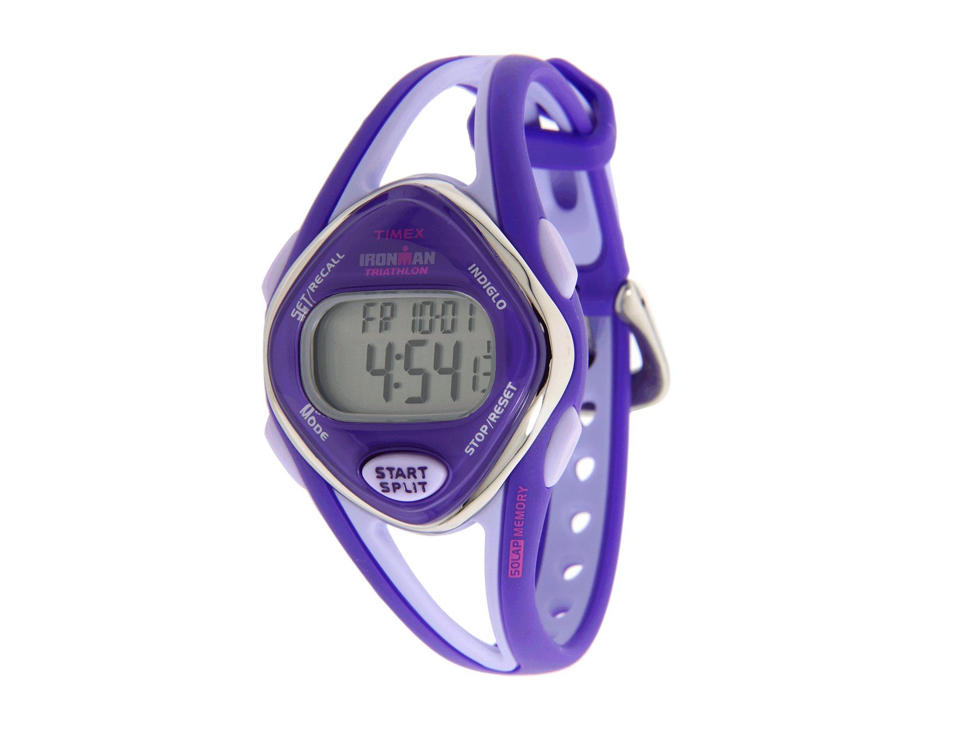timex 174 purple ironman mid size sleek 50lap digital