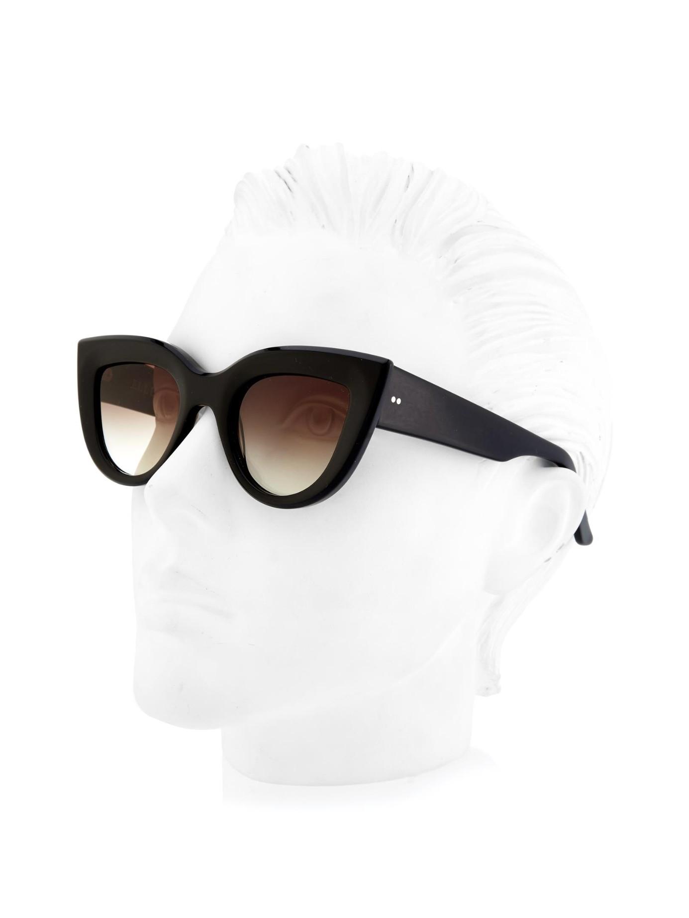 ecb8be5e16 Ellery Quixote Cat-Eye Sunglasses in Black - Lyst