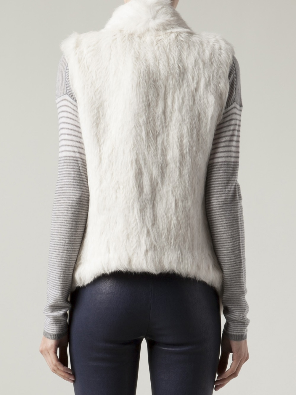 June Rabbit Fur Vest In White Lyst