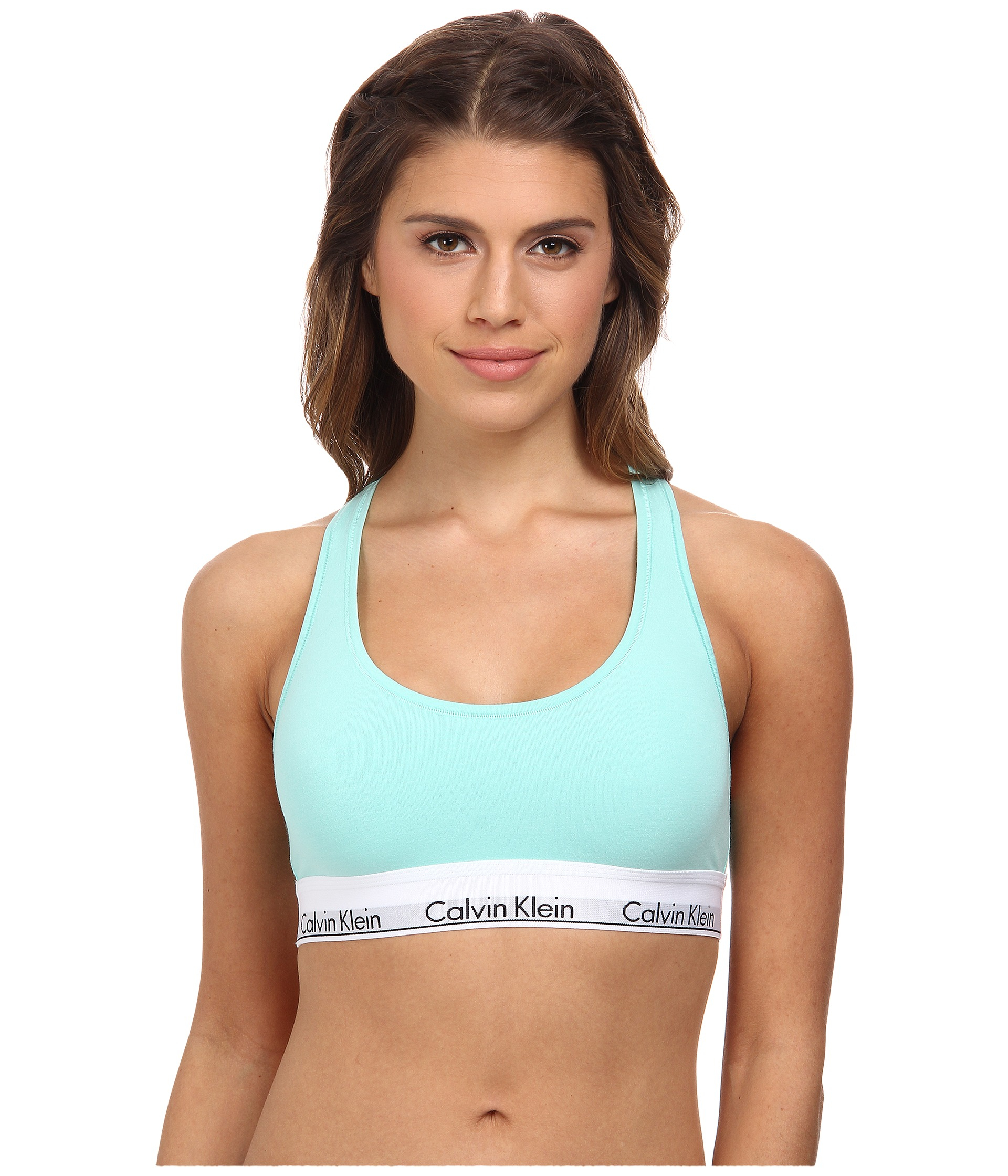 5950f22487 Lyst - Calvin Klein Modern Cotton Bralette F3785 in Green
