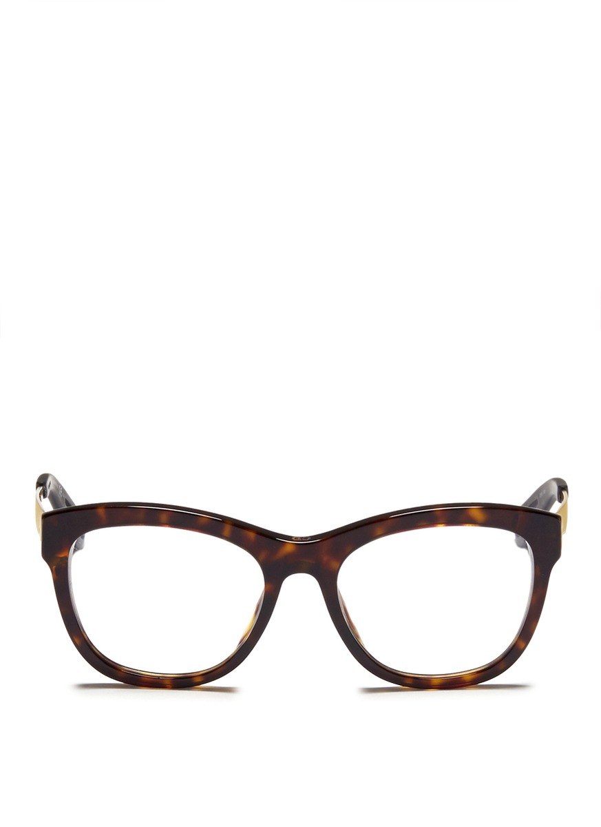 Dior Metal Eyeglass Frames : Dior Metal Temple Tortoiseshell Acetate Optical Glasses in ...