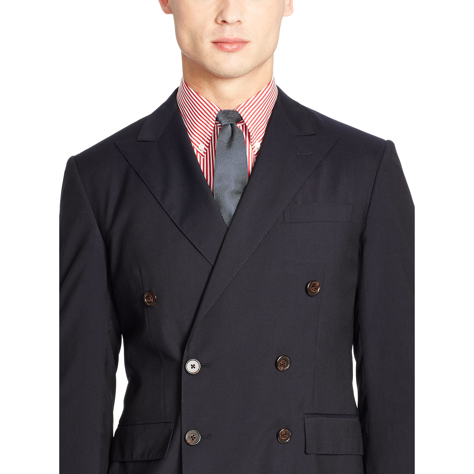 Polo Ralph Lauren Polo Double Breasted Wool Suit In Blue