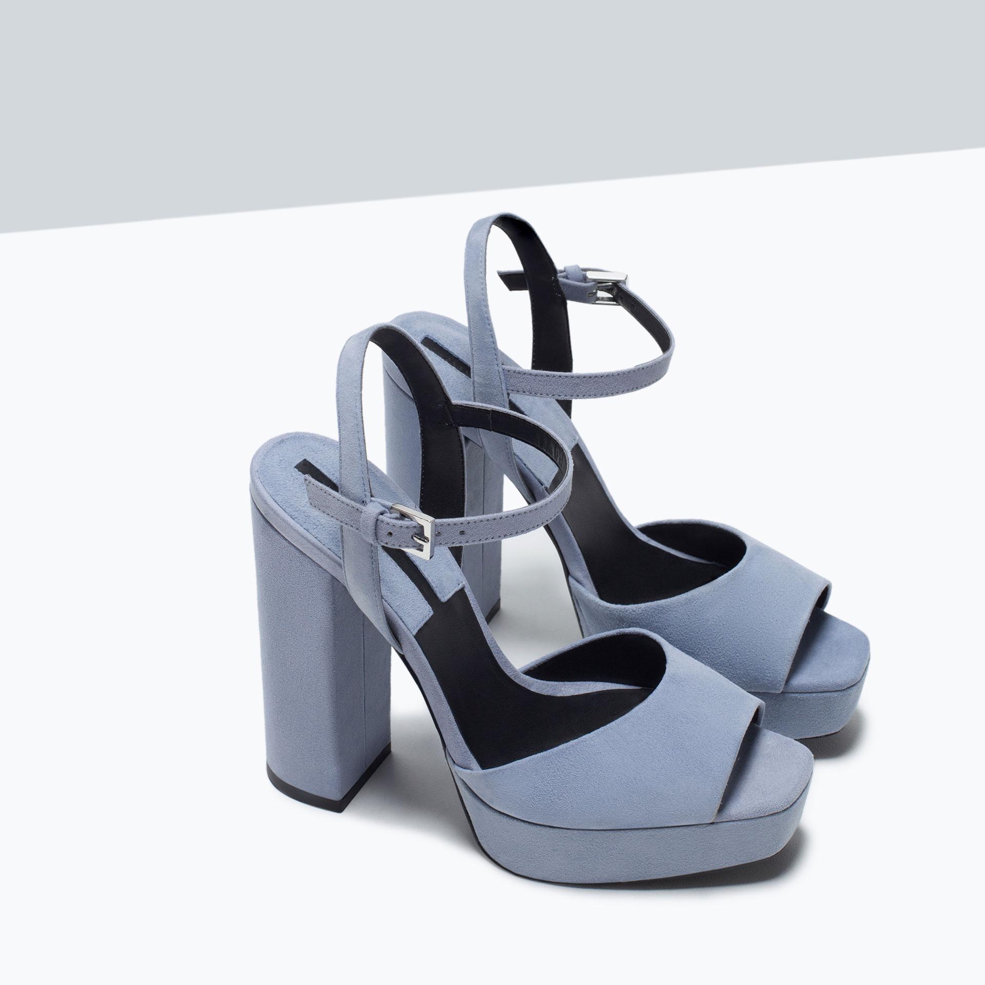 zara leather platform sandals leather platform sandals in
