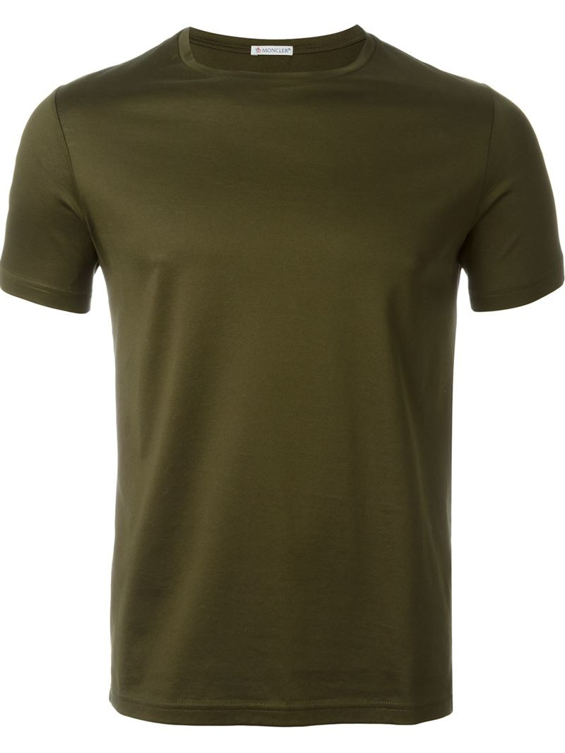 moncler classic t shirt in green for men lyst