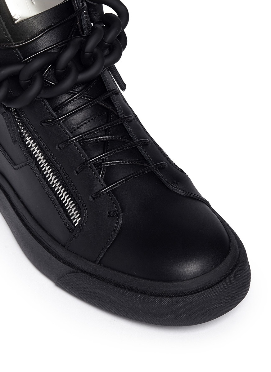 Giuseppe zanotti London Oversized Chain High-top Sneakers ...