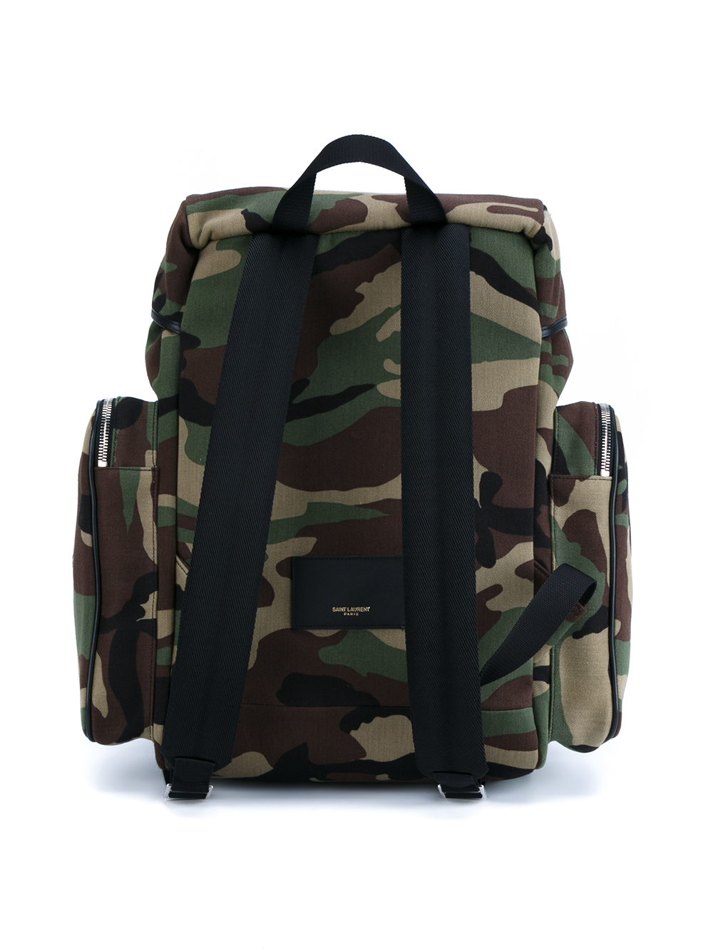 Lyst - Saint Laurent Camouflage Backpack in Green for Men 5acf6f252c
