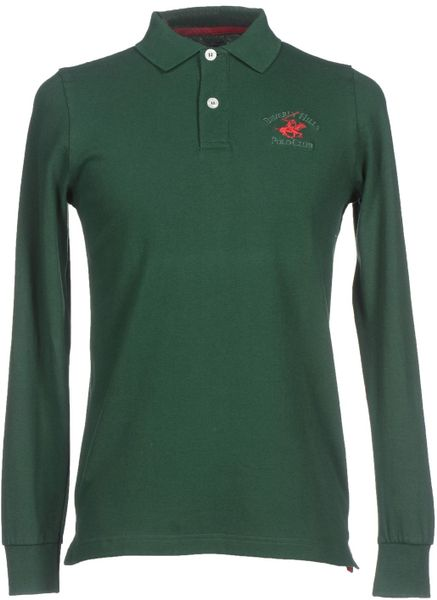 Beverly Hills Polo Club Green Polo Shirt For Men Lyst