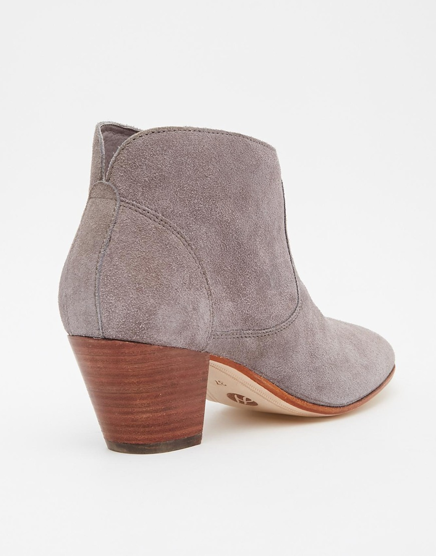 03341b2b8 H by Hudson Kivar Grey Suede Ankle Boots - Grey in Brown - Lyst