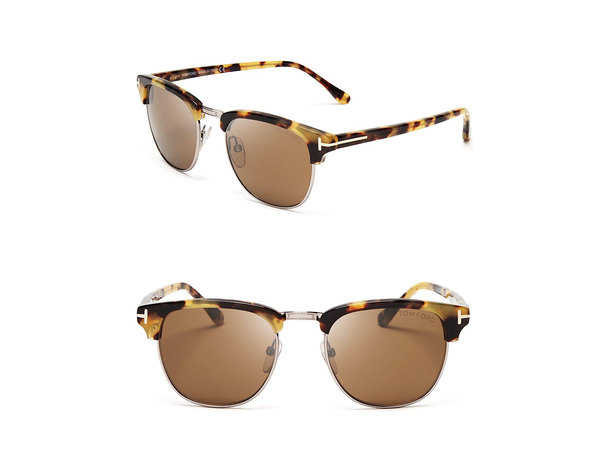 lyst tom ford henry wayfarer sunglasses 51mm in brown. Black Bedroom Furniture Sets. Home Design Ideas