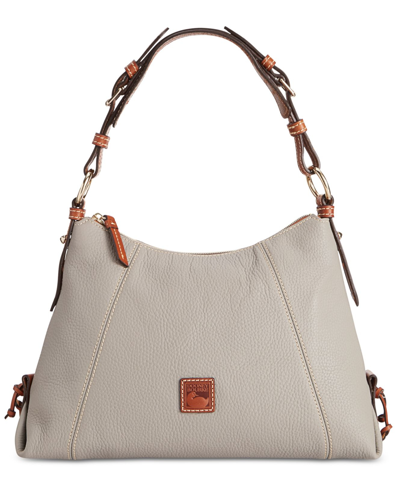 3b41d4001967 Lyst - Dooney   Bourke Small East West Slouch Bag in Gray