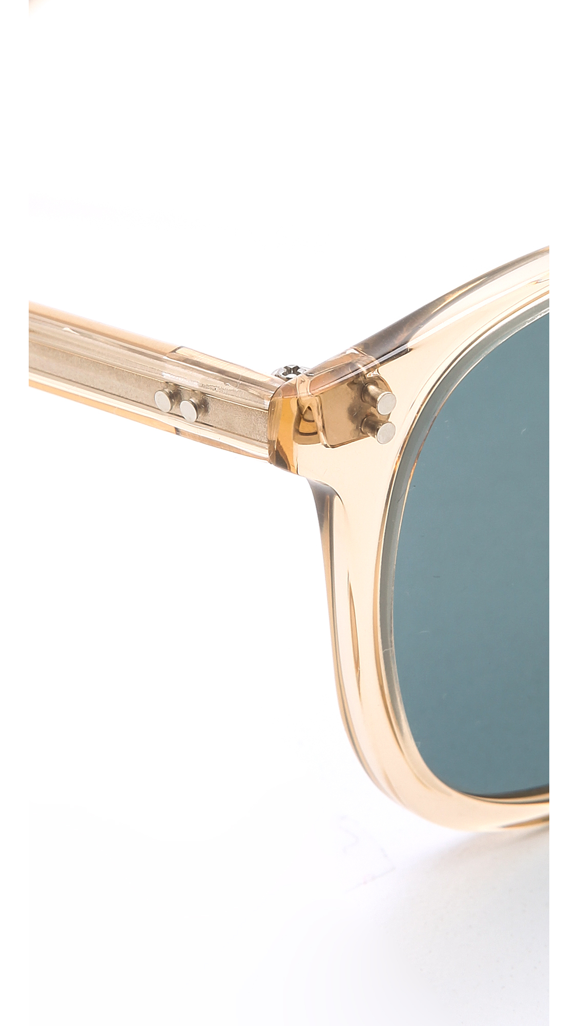296cc90fbea Lyst - Garrett Leight Kinney Polar Sunglasses - Champagne Blue Smoke ...