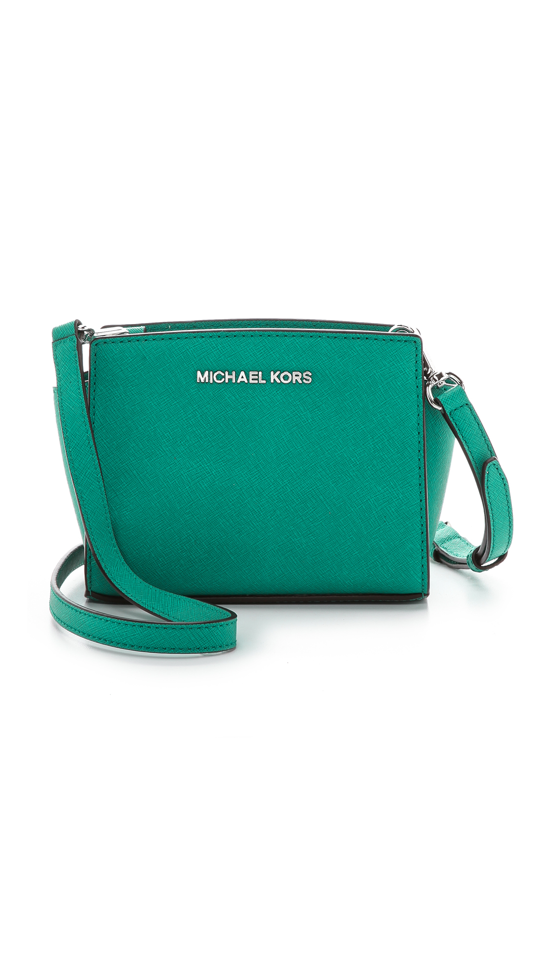 7d8c06374c599 ... coupon for michael michael kors selma mini messenger aqua in blue lyst  80ab3 aad1c