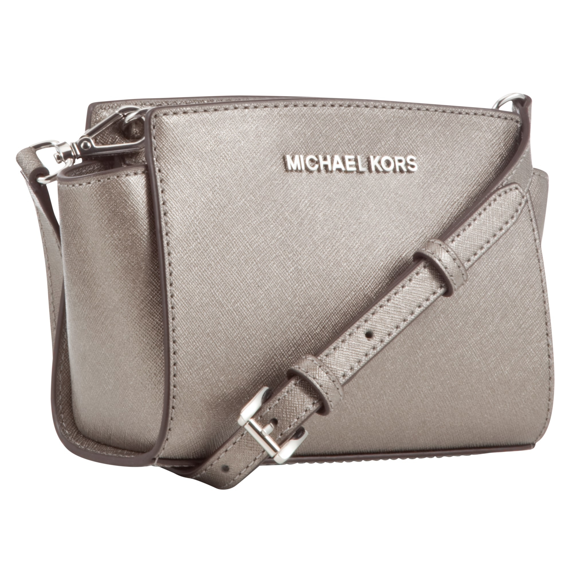 MICHAEL Michael Kors Selma Saffiano Leather Mini Messenger Bag in ... 9b2c251b6553d