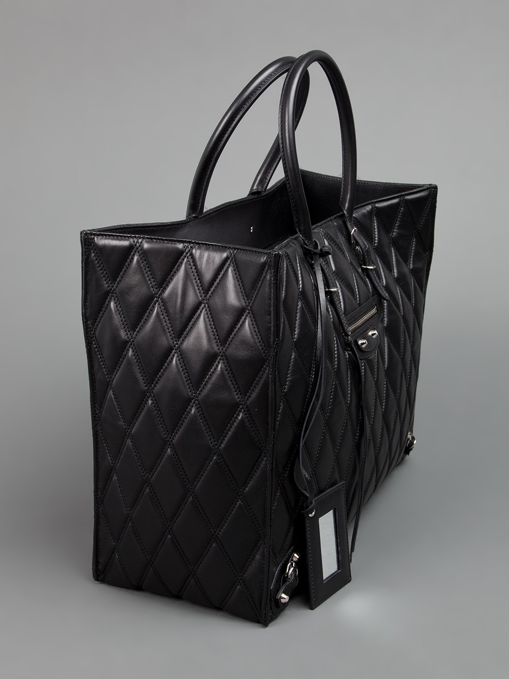 Balenciaga Black Tote. Lyst - Balenciaga Quilted Shopper ... 6fcff17d43cad