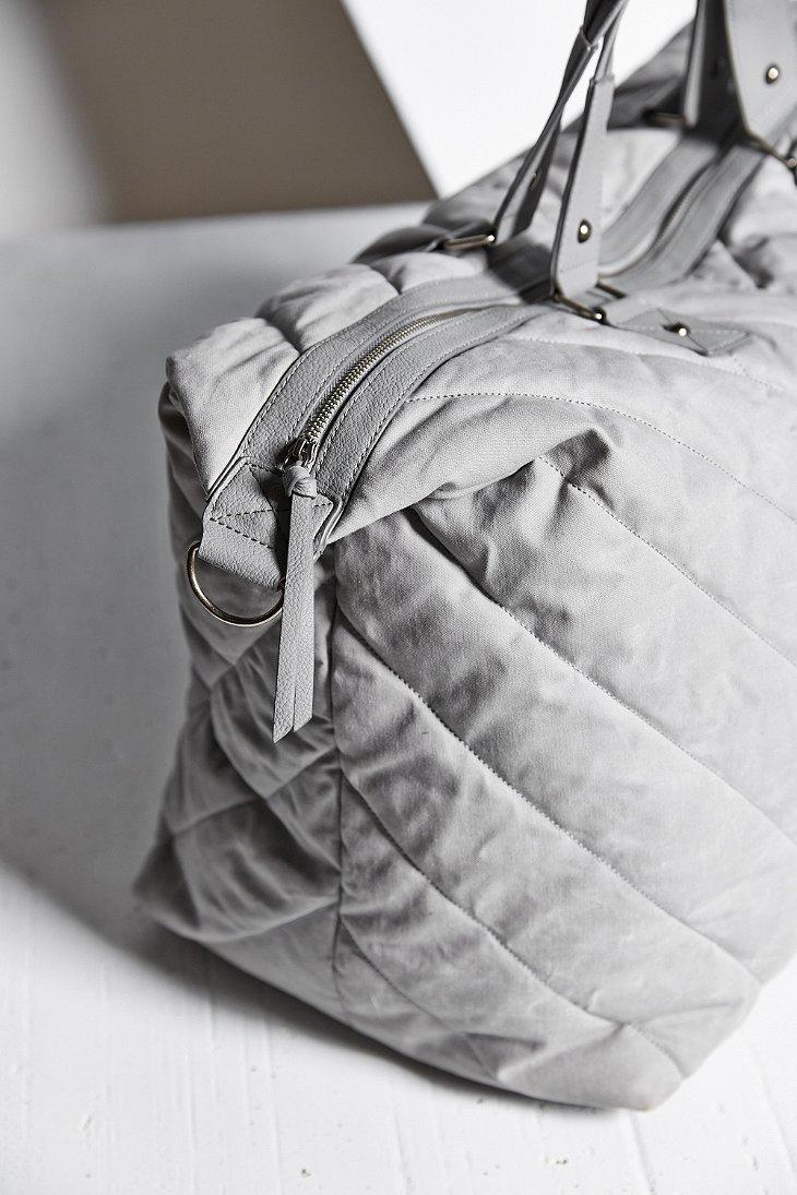 Lyst Bdg Quilted Weekender Bag In Gray