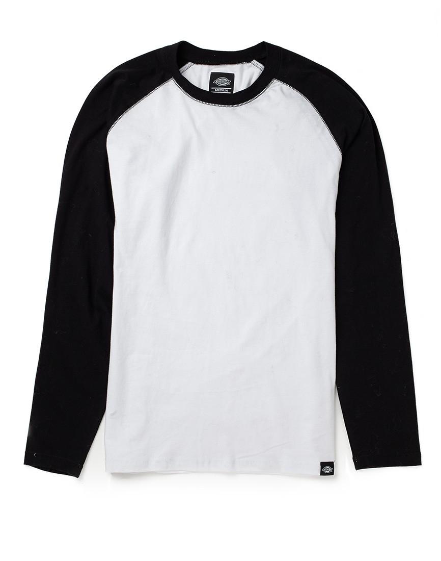 Dickies 574 long sleeve work shirt in black for men lyst for Black long sleeve work shirt