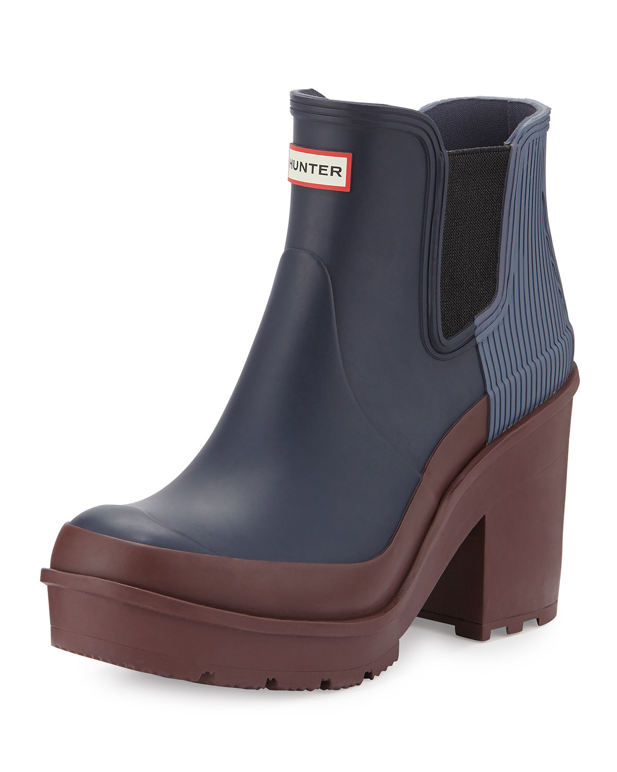 Lyst Hunter Heeled Rain Boots In Blue